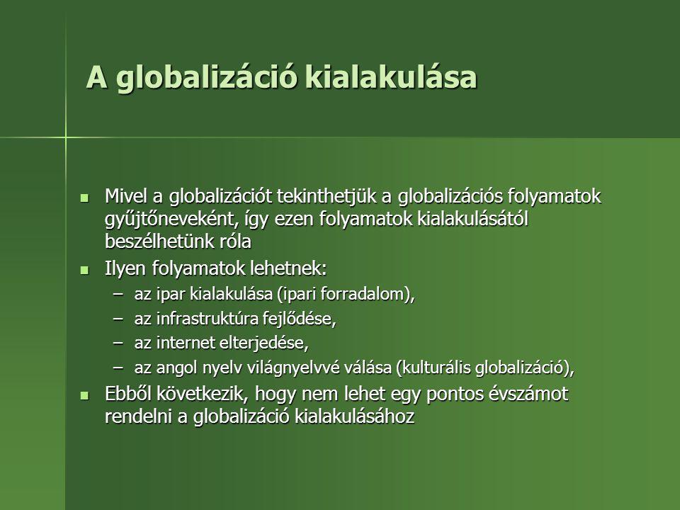A globalizáció kialakulása