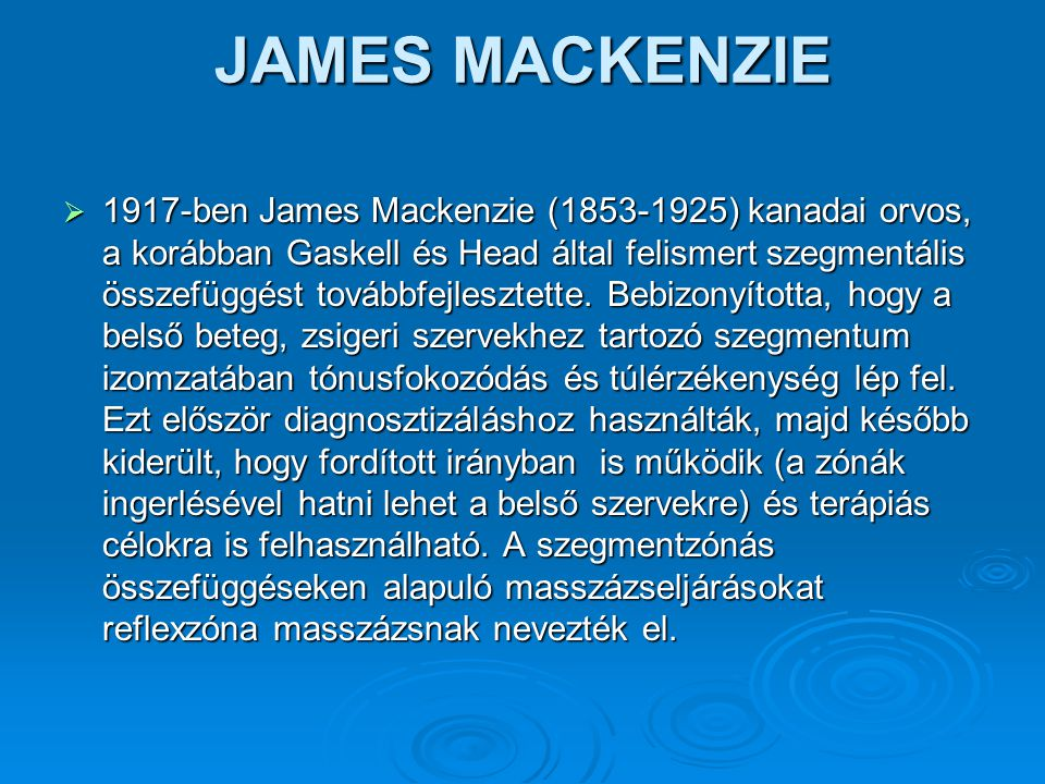 JAMES MACKENZIE