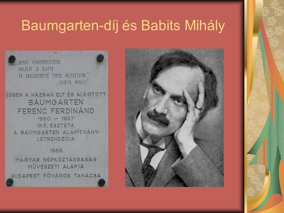 Baumgarten-díj és Babits Mihály