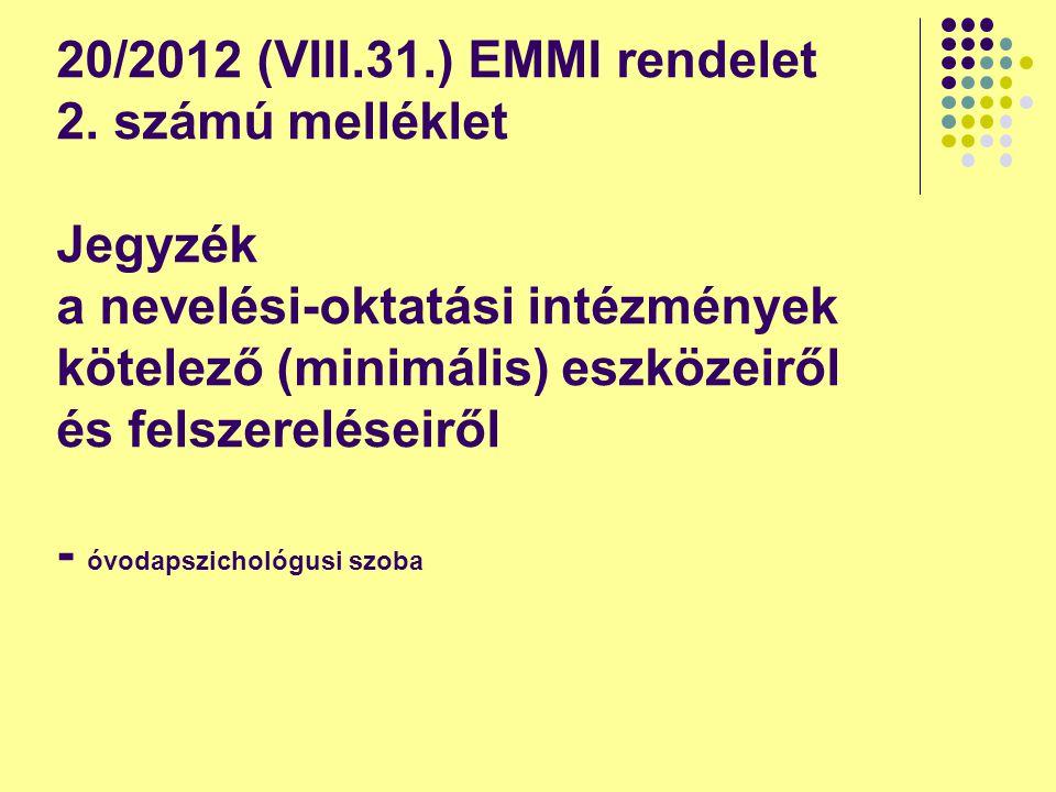 20/2012 (VIII.31.) EMMI rendelet 2.