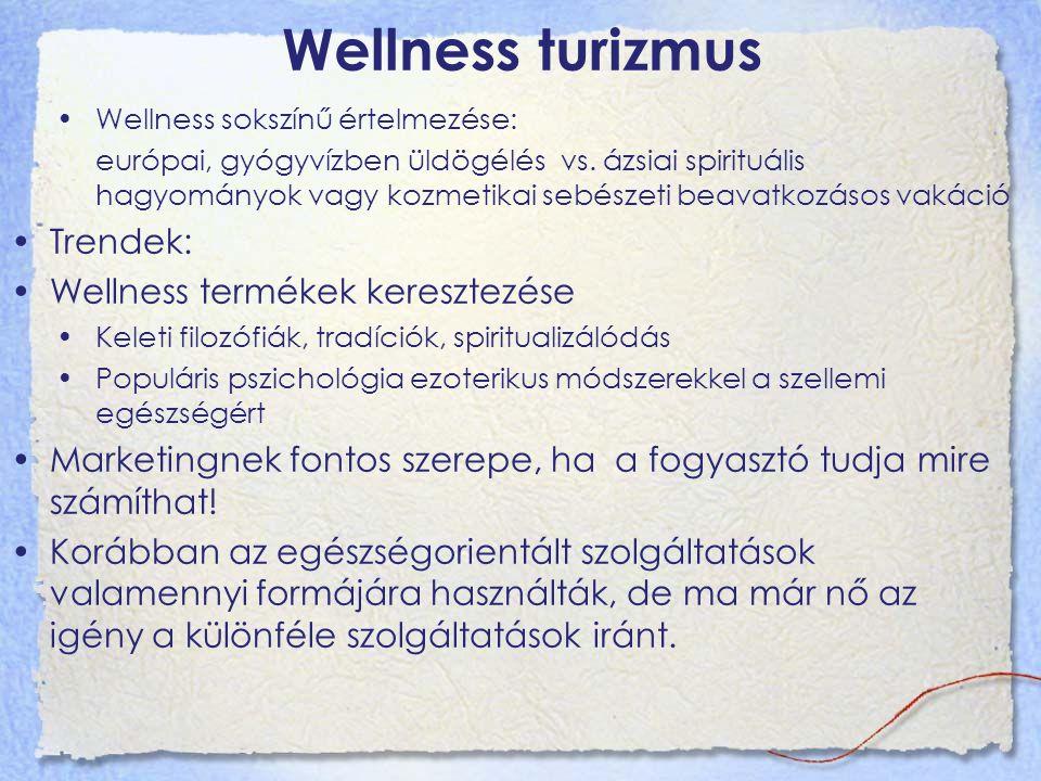Wellness turizmus Trendek: Wellness termékek keresztezése