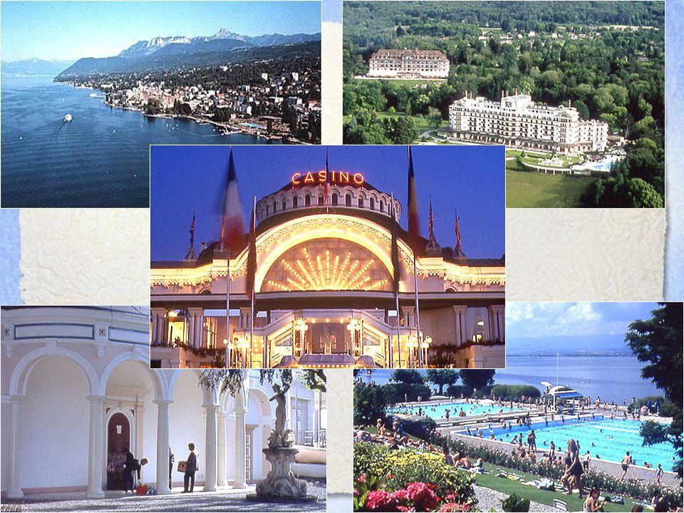 EDDIG Klasszikus ásványvizes spa - Evian, Franciaország (vonzó természeti környezet, grand hotel, ivócsarnok, 19.