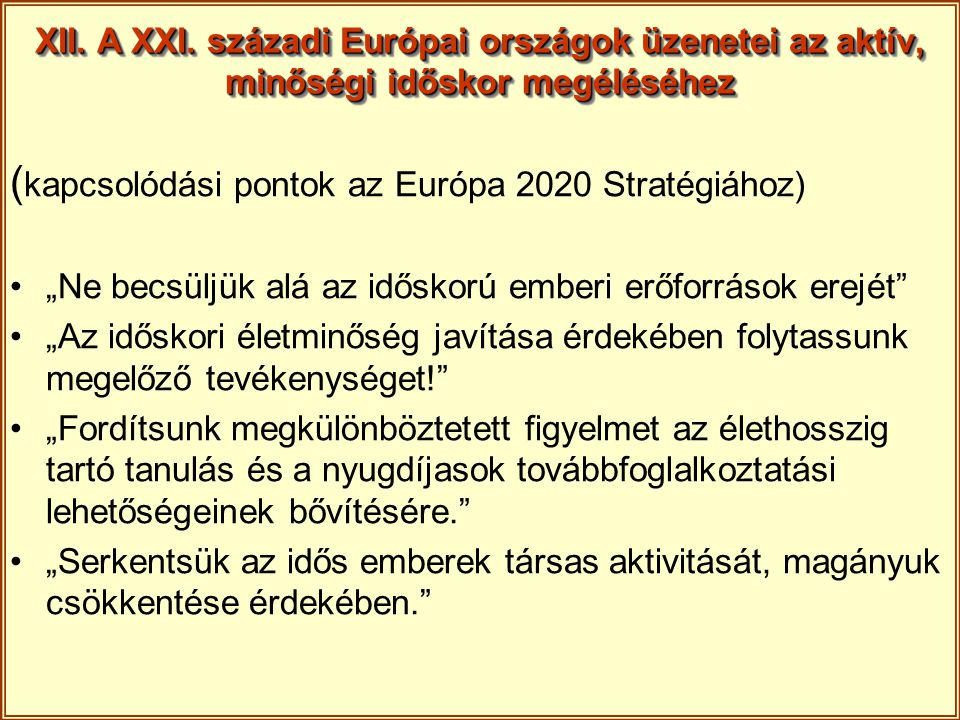 (kapcsolódási pontok az Európa 2020 Stratégiához)