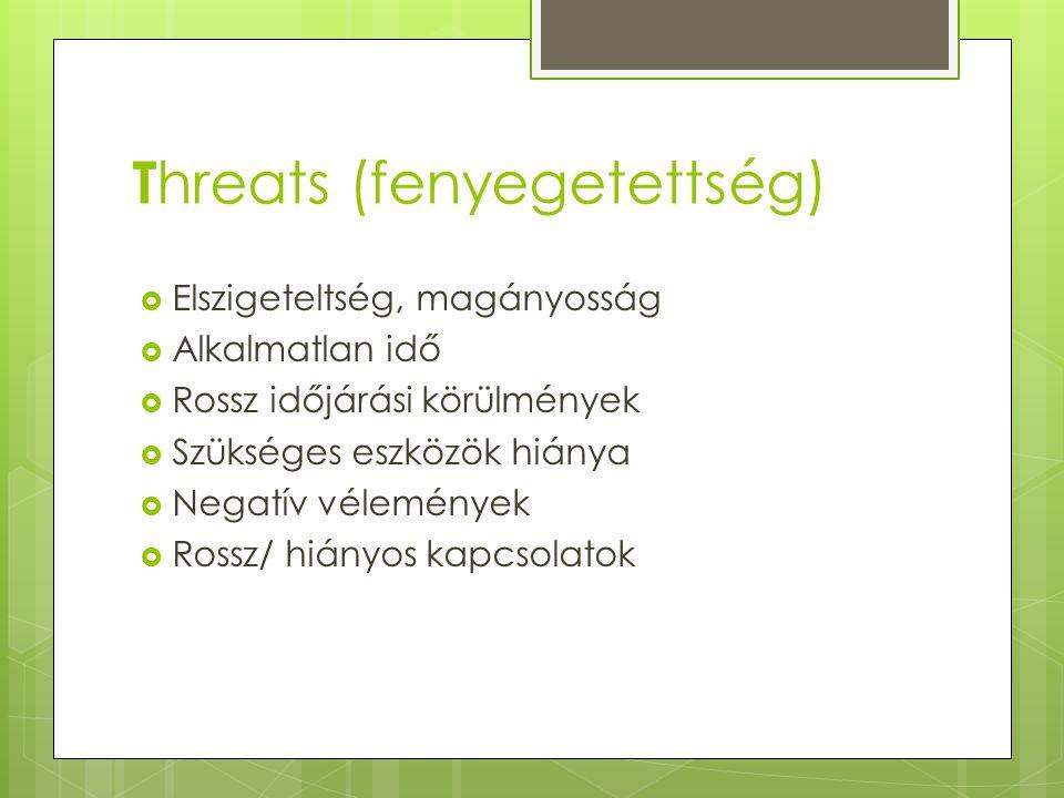 Threats (fenyegetettség)