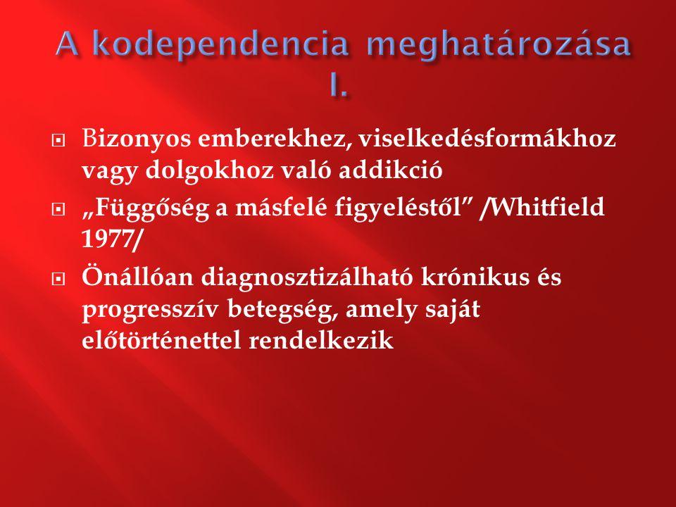 A kodependencia meghatározása I.