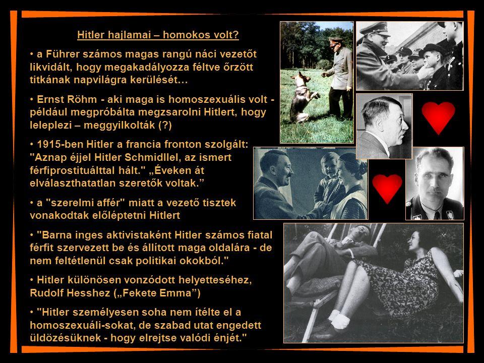 Hitler hajlamai – homokos volt
