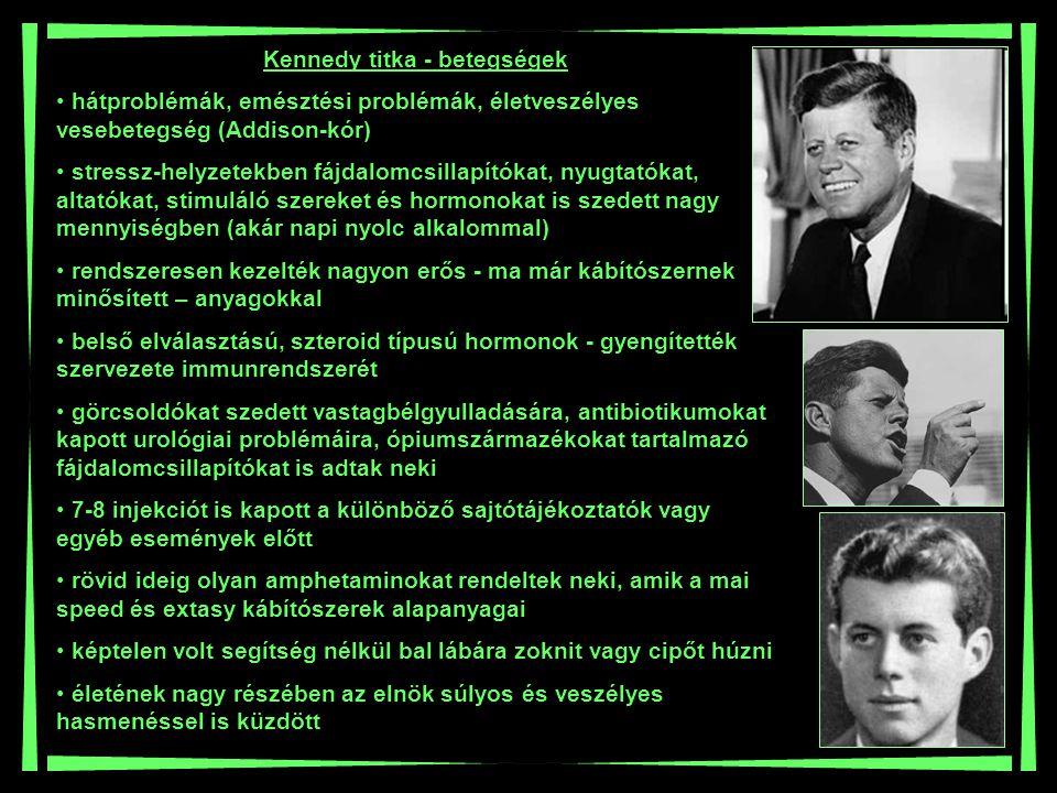 Kennedy titka - betegségek