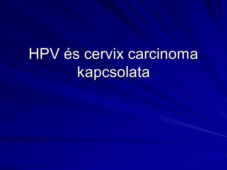 HPV és cervix carcinoma kapcsolata