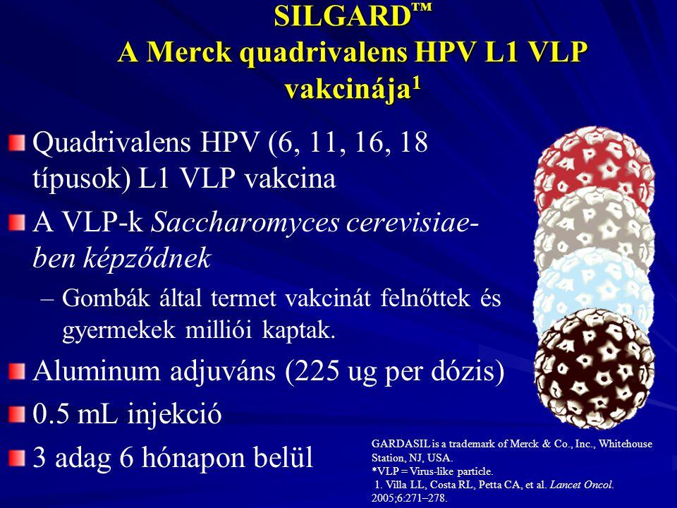 SILGARD™ A Merck quadrivalens HPV L1 VLP vakcinája1