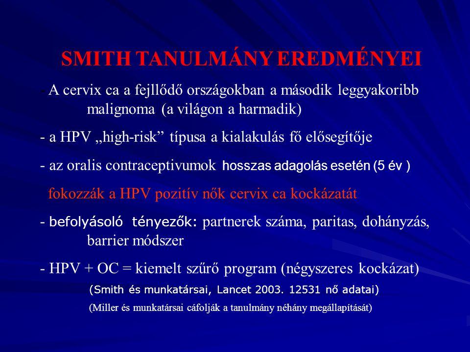SMITH TANULMÁNY EREDMÉNYEI