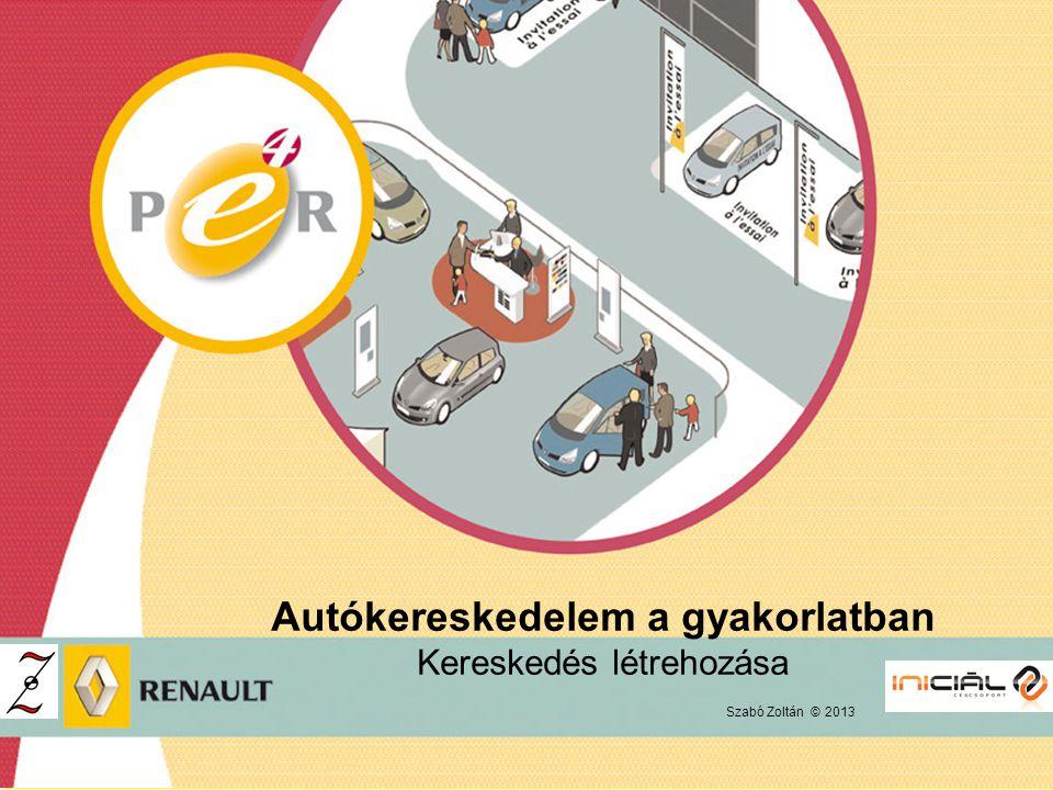 Autókereskedelem a gyakorlatban Kereskedés létrehozása
