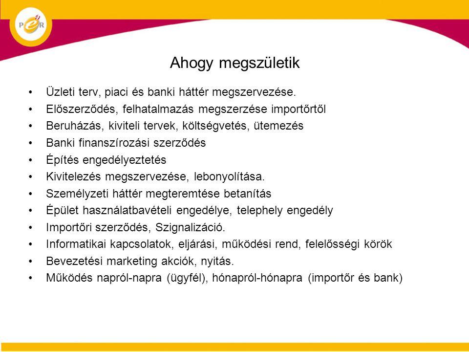 Ahogy megszületik Üzleti terv, piaci és banki háttér megszervezése.