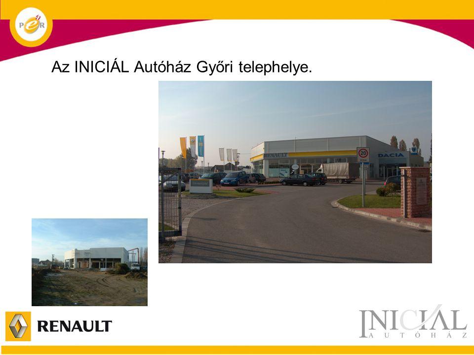 Az INICIÁL Autóház Győri telephelye.