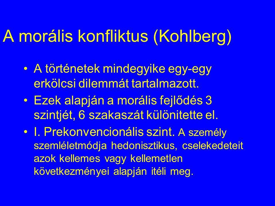 A morális konfliktus (Kohlberg)