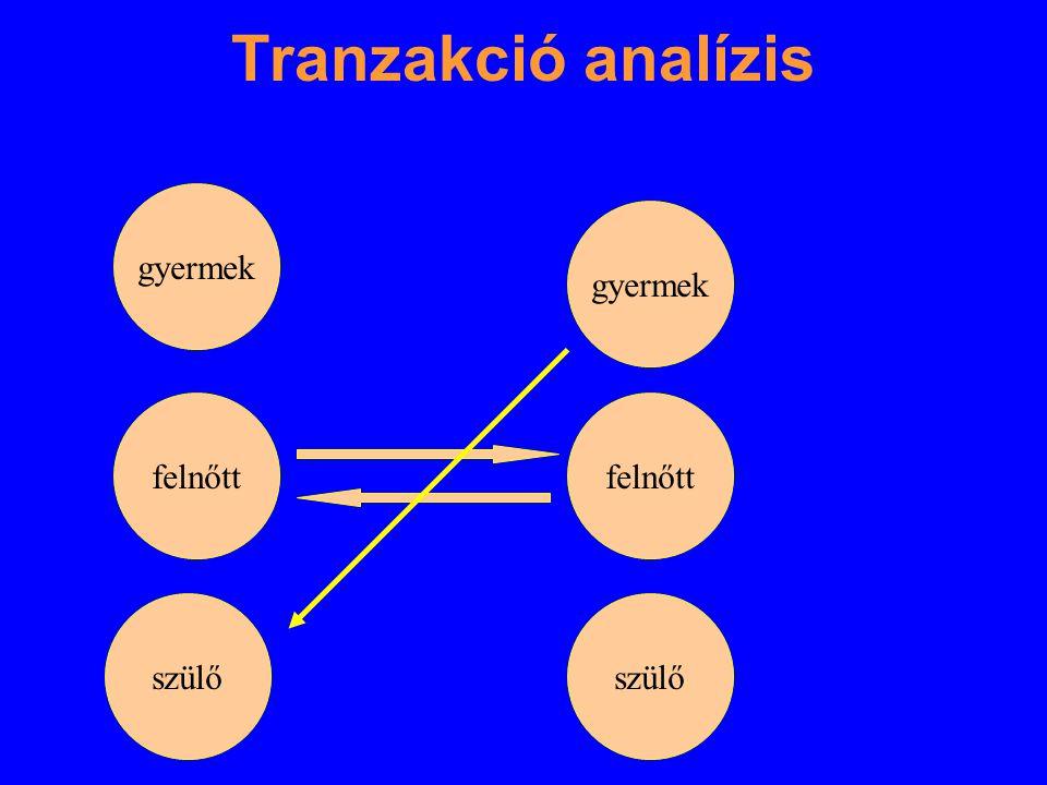 Tranzakció analízis gyermek gyermek felnőtt felnőtt szülő szülő