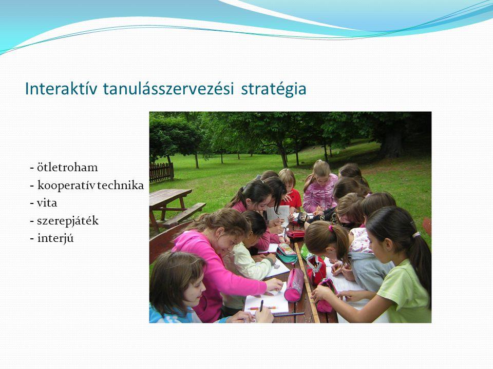 Interaktív tanulásszervezési stratégia