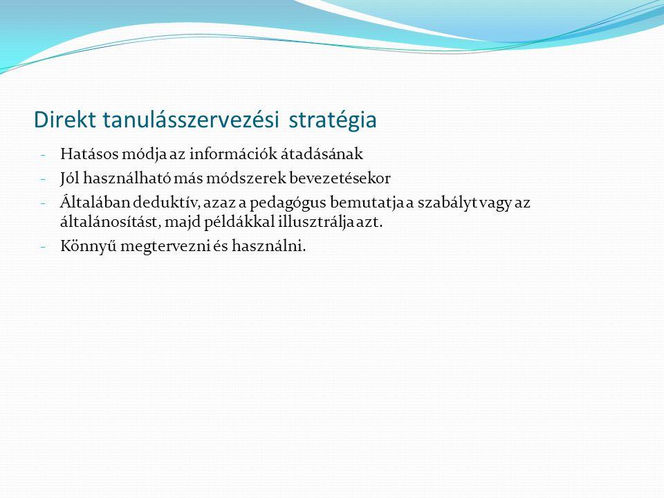 Direkt tanulásszervezési stratégia