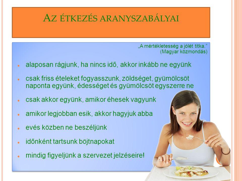 Az étkezés aranyszabályai