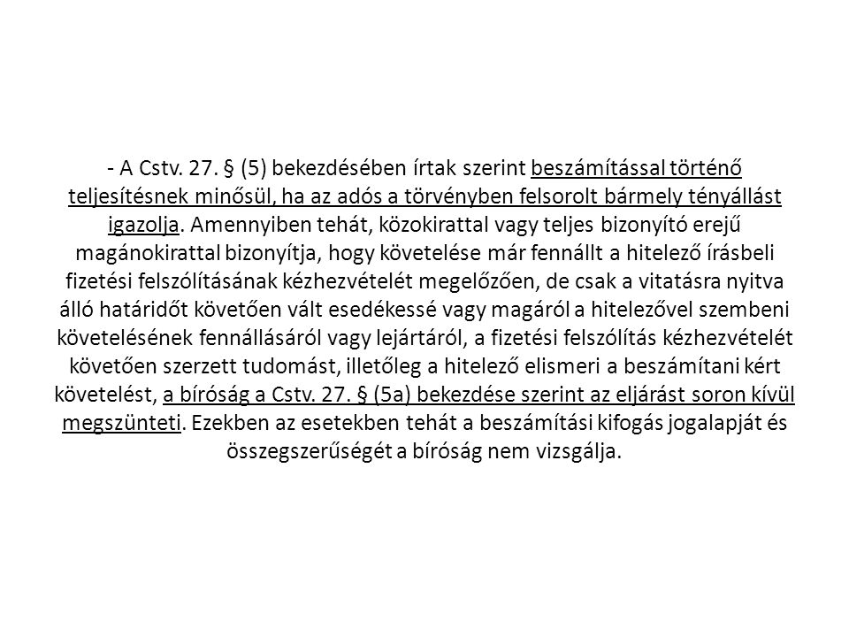 - A Cstv. 27.