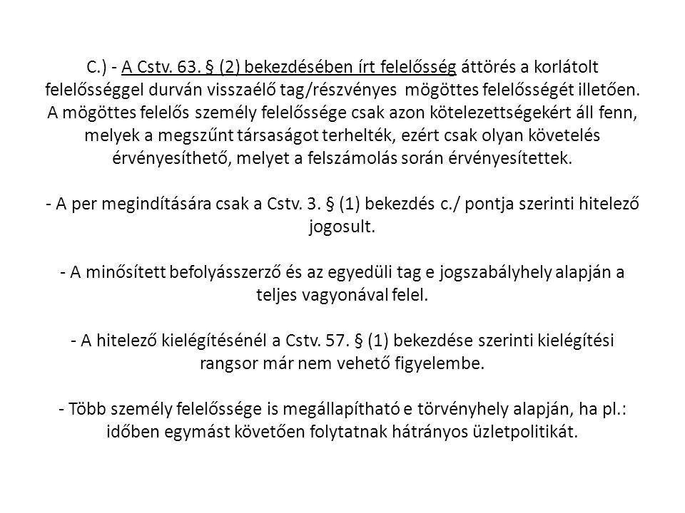 C.) - A Cstv. 63.