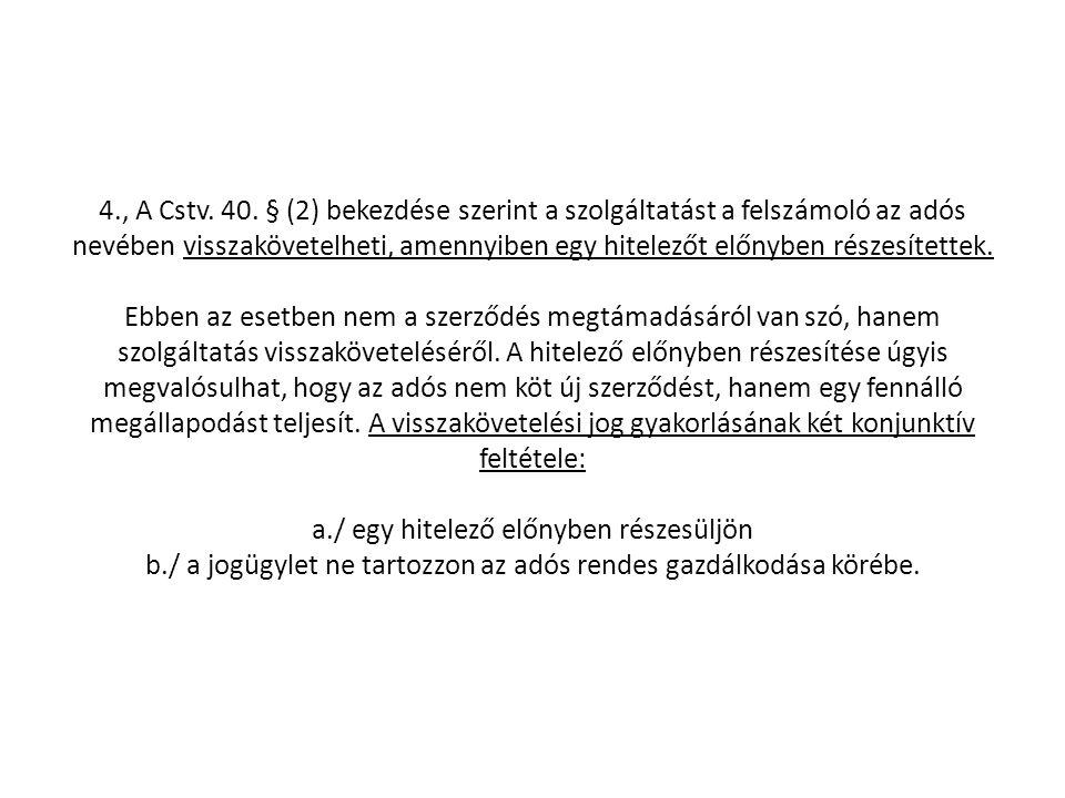 4., A Cstv. 40.