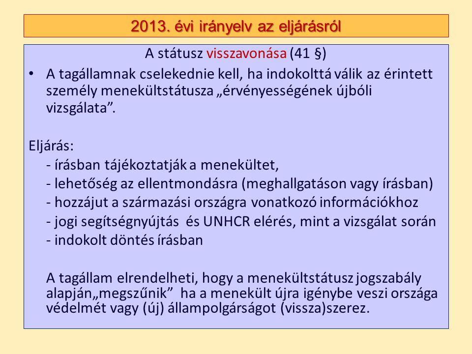 2013. évi irányelv az eljárásról