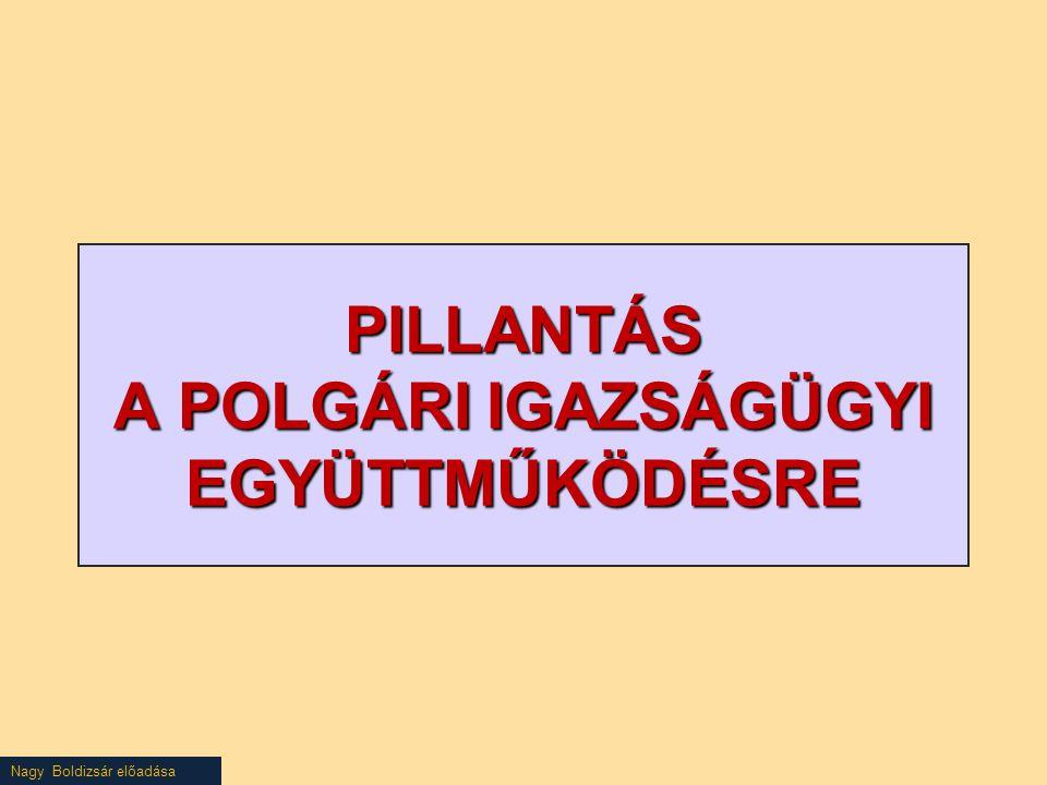 PILLANTÁS A POLGÁRI IGAZSÁGÜGYI EGYÜTTMŰKÖDÉSRE