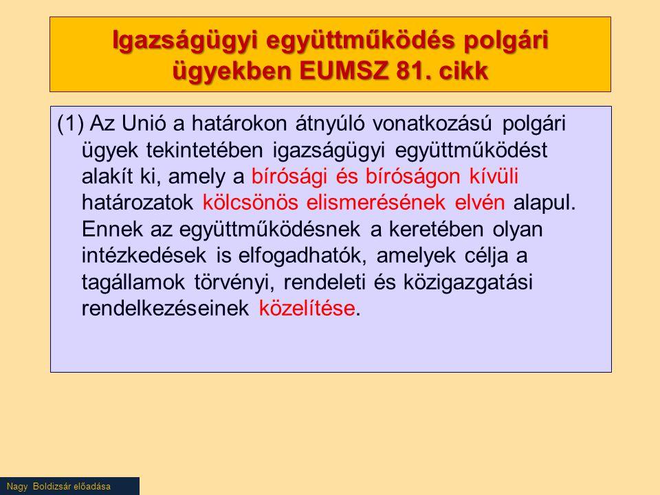 Igazságügyi együttműködés polgári ügyekben EUMSZ 81. cikk