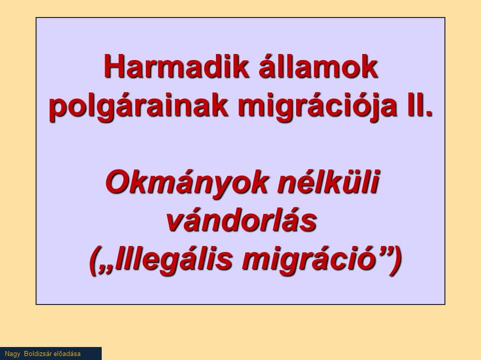 Harmadik államok polgárainak migrációja II