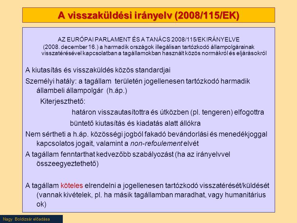 A visszaküldési irányelv (2008/115/EK)