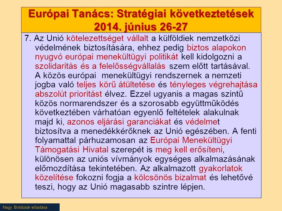 Európai Tanács: Stratégiai következtetések 2014. június 26-27