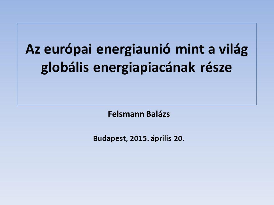 Az európai energiaunió mint a világ globális energiapiacának része