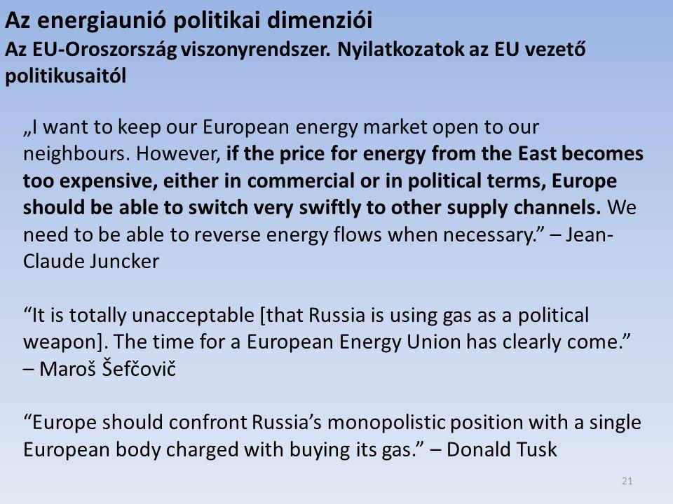 Az energiaunió politikai dimenziói