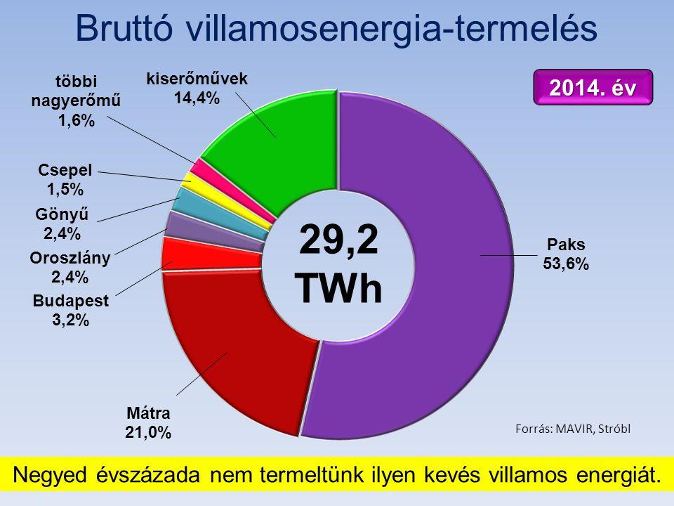 Bruttó villamosenergia-termelés