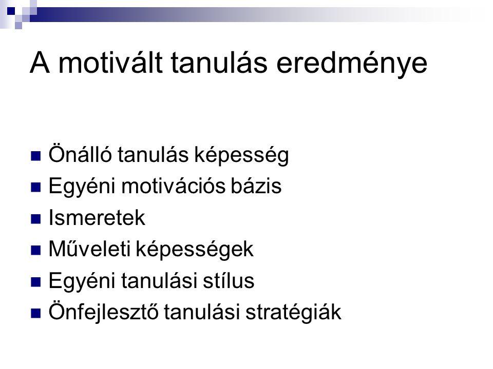 A motivált tanulás eredménye