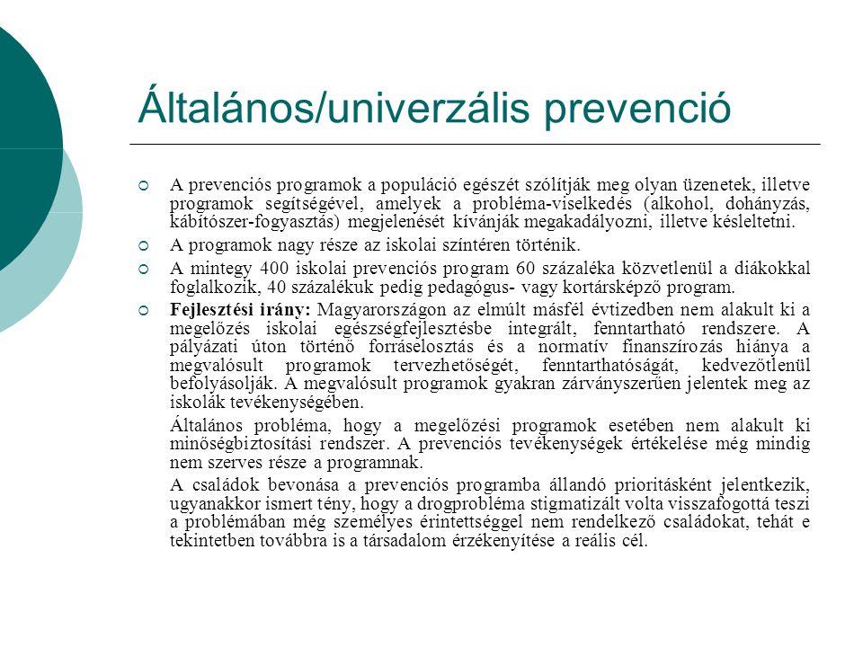 Általános/univerzális prevenció