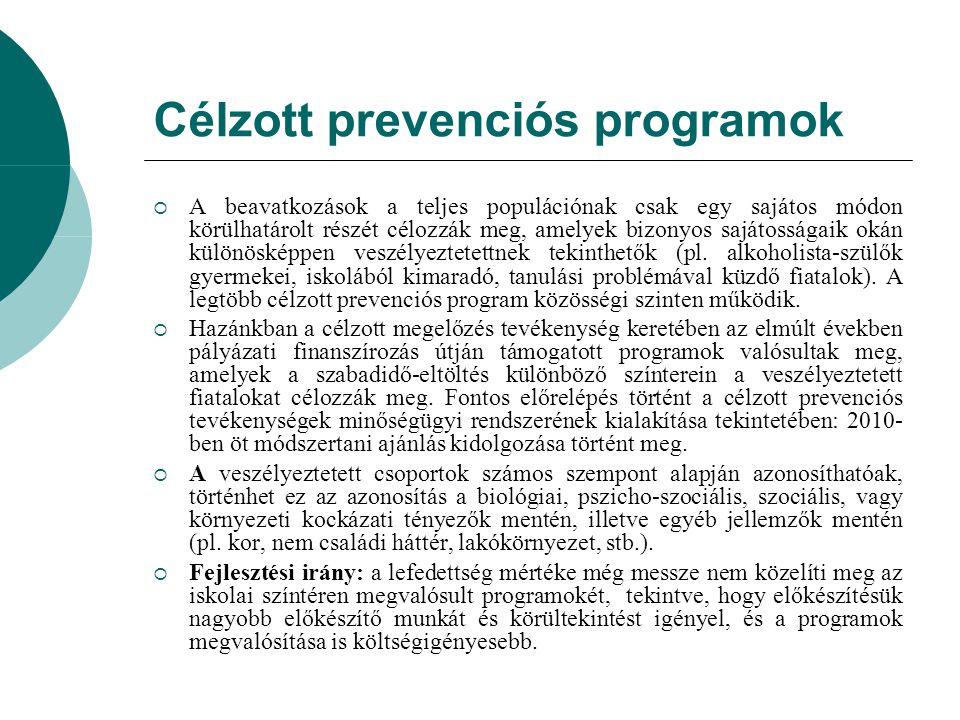 Célzott prevenciós programok