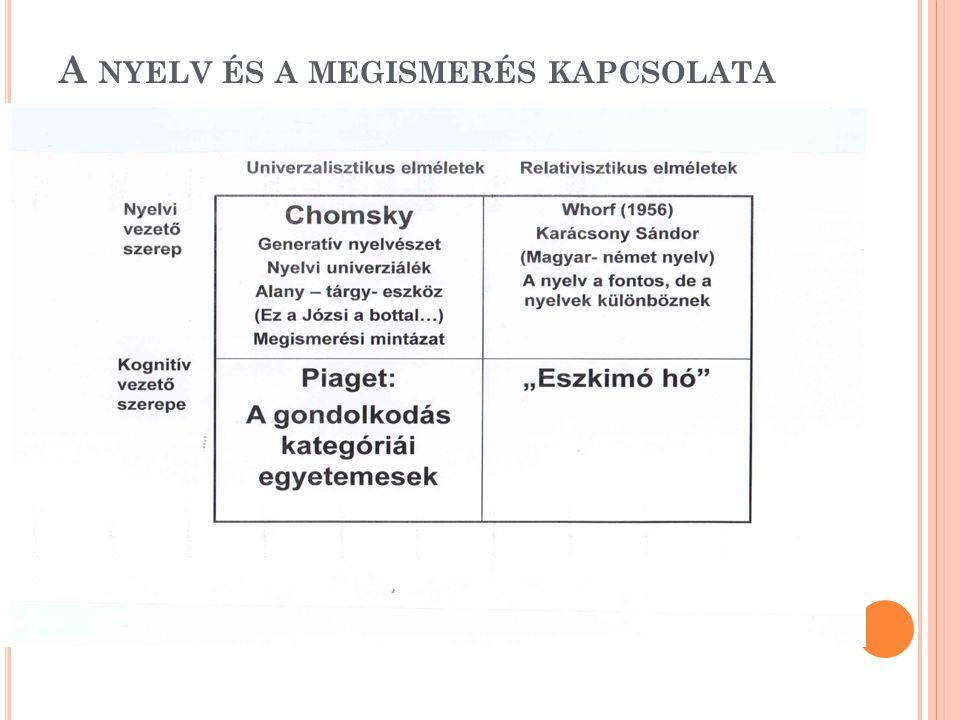 A nyelv és a megismerés kapcsolata