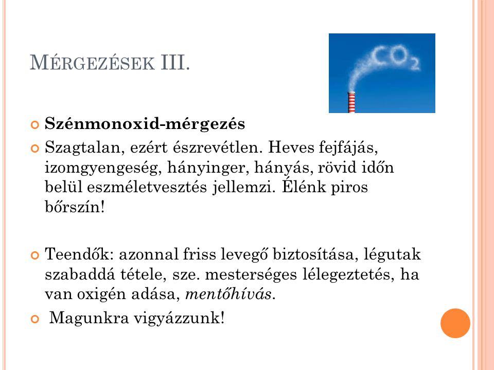 Mérgezések III. Szénmonoxid-mérgezés