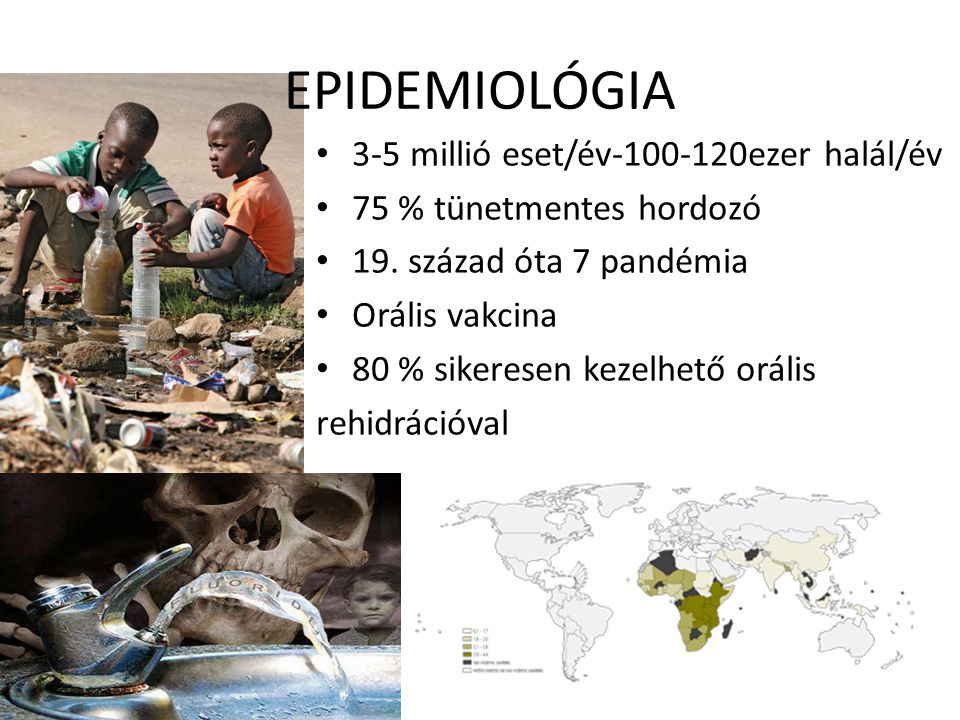 EPIDEMIOLÓGIA 3-5 millió eset/év-100-120ezer halál/év