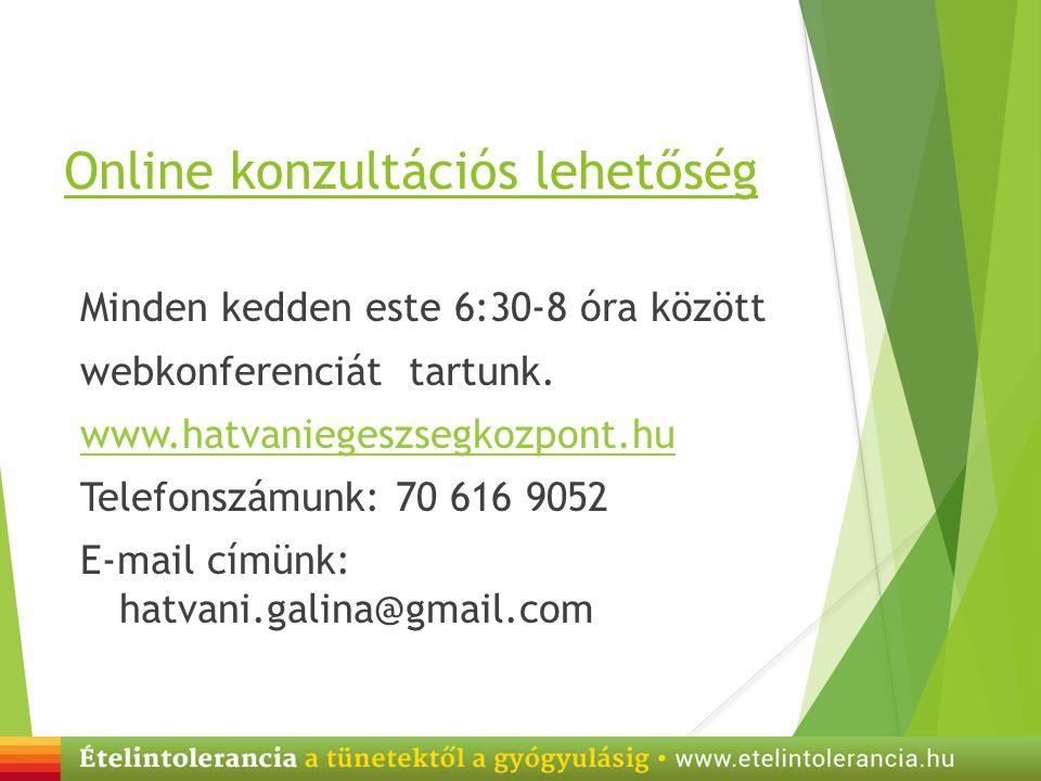 Online konzultációs lehetőség