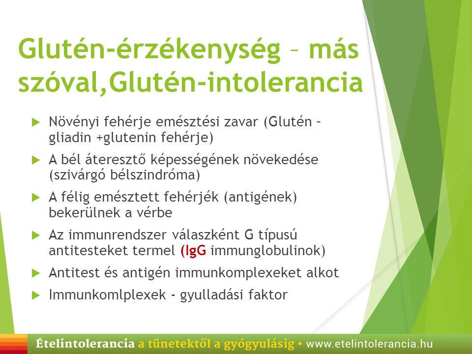 Glutén-érzékenység – más szóval,Glutén-intolerancia
