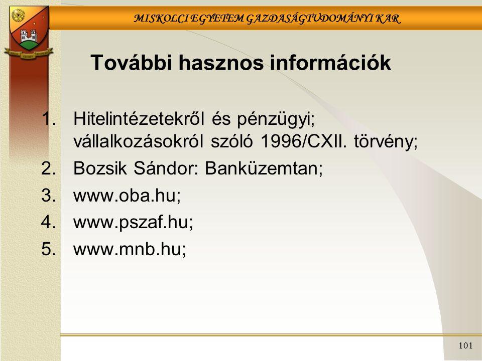 További hasznos információk