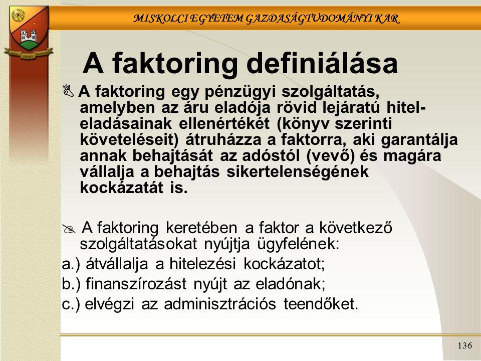 A faktoring definiálása