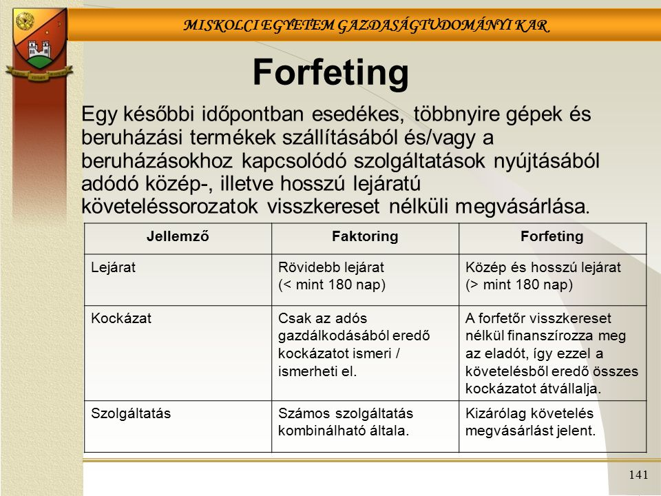 Forfeting