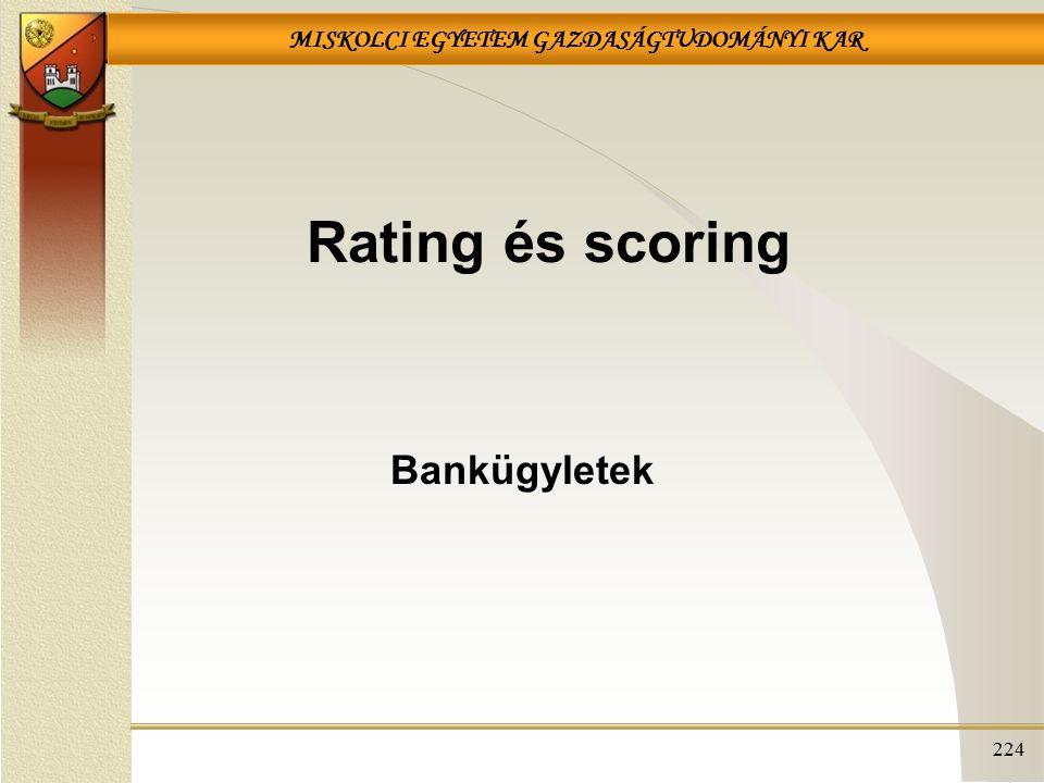 Rating és scoring Bankügyletek