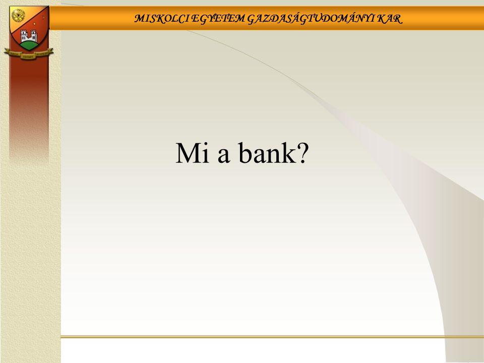Mi a bank