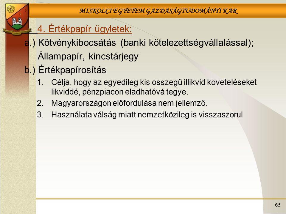 a.) Kötvénykibocsátás (banki kötelezettségvállalással);