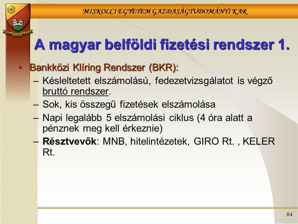 A magyar belföldi fizetési rendszer 1.