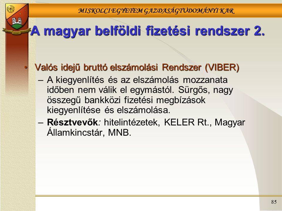 A magyar belföldi fizetési rendszer 2.
